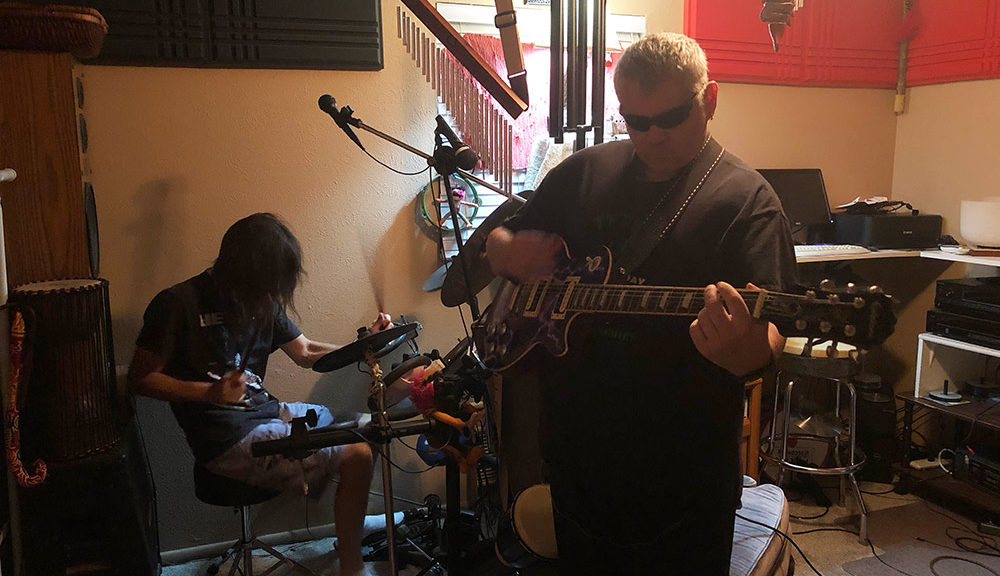Joe & Matt Jamming on Guitar & Drums, March 2019